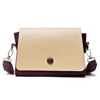 f88e9fa02aa9 Kisstyle женская кожаная сумка через плечо маленькие кошельки сумки ремень  лоскут телефон кошелек сумка Повседневная женская маленькая сумка .