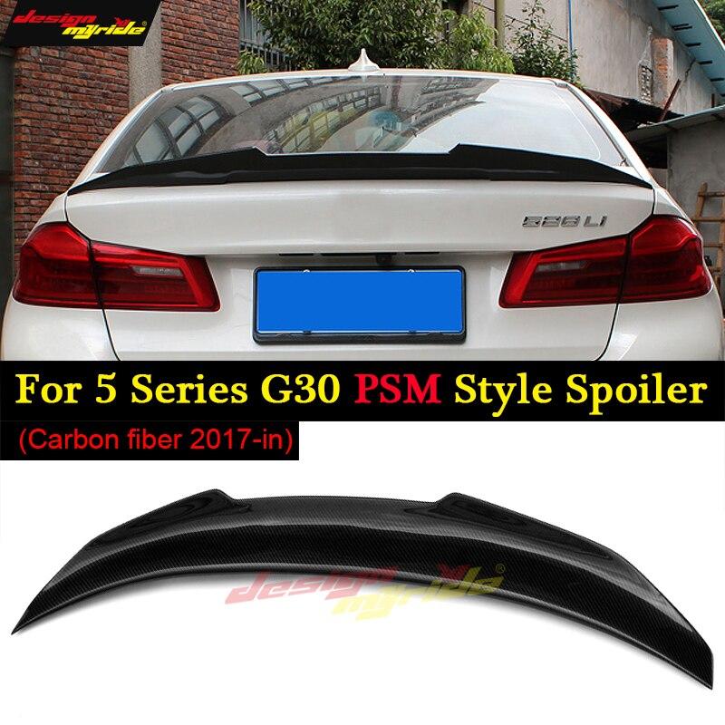 G30 becquet arrière aile de coffre PSM Style carbone pour bmw G30 520i 520d 530i 530d 540i 550i aileron arrière aile de coffre arrière 2017 +