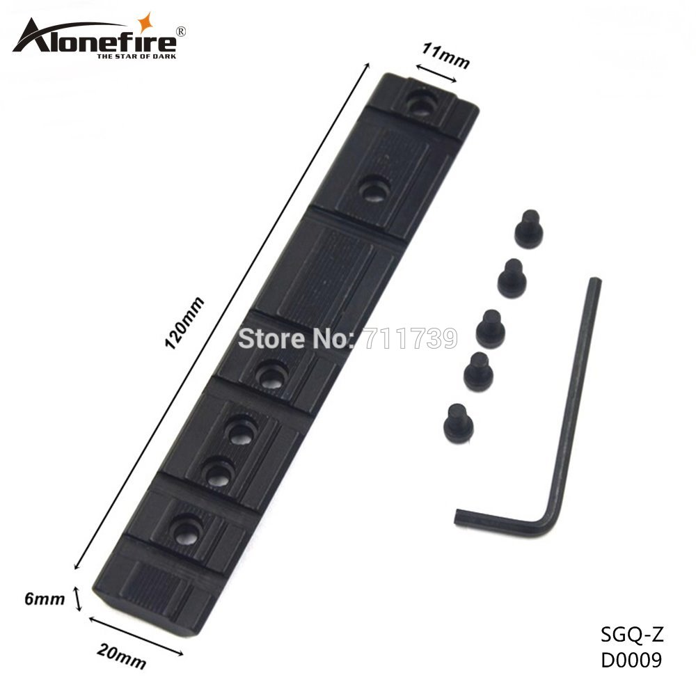 AloneFire SGQ-Z 11mm Dovetail extend kepada 20mm Weaver Rail Adapter Skop asas Gunung untuk skema senapang memperpanjang Picatinny Weaver Mount