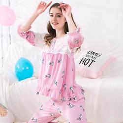 Новые весенние кружевное платье для беременных прекрасный лактации костюм для кормления грудью pijama для беременных пижамы кормящих ночное