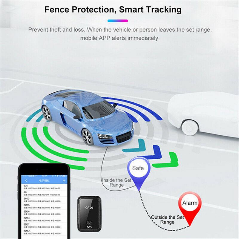 GF 09 Mini GPS Tracker APP Control Anti Theft Device Locator Magnetic Voice Recorder Shock Burglar Alarm support WiFi LBS BEIDOU in GPS Trackers from Automobiles Motorcycles