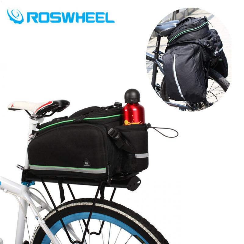 Bicycle Bags & Panniers Bicycle Accessories Nice Roswheel Bicycle Rear Rack Bag 13-20l Foldable Mtb Bike Double Pannier Bag High Capacity Basket Rack Trunk Bag Shoulder Handbag In Short Supply