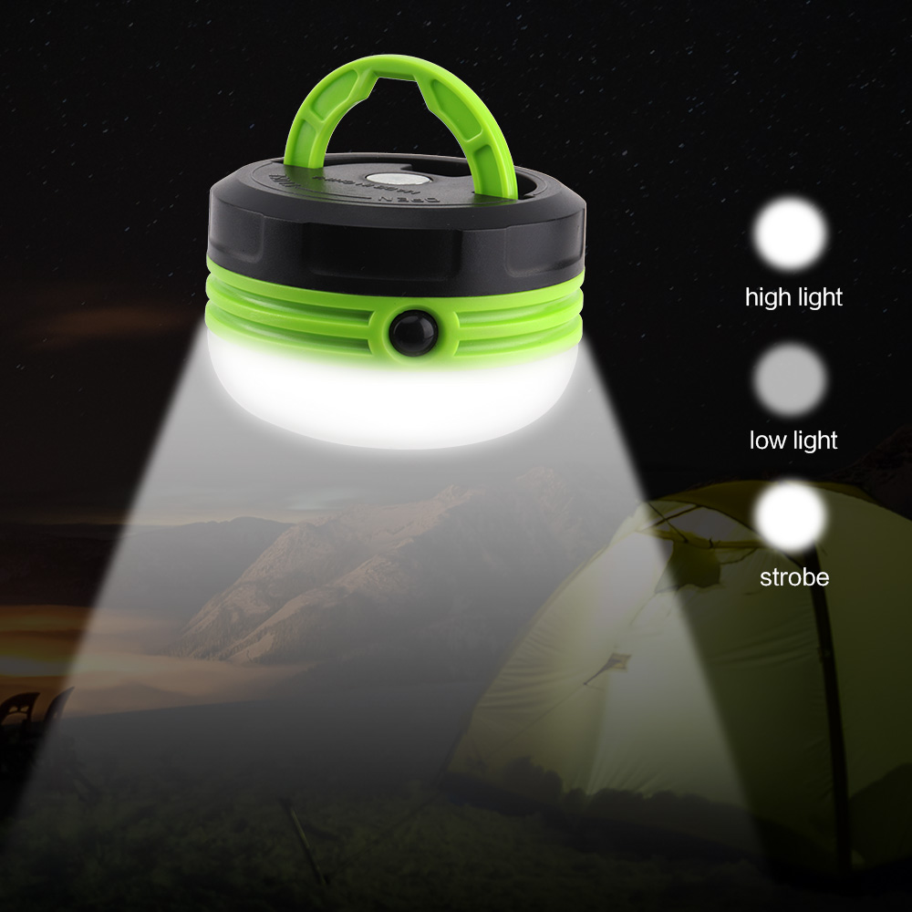 Outdoor 3W Portable Bright LED Camping Lantern Flashlight Mini Outdoor Tent Light Lamp Emergency Light Flashlight Flexible D40 in Portable Lanterns from Lights Lighting