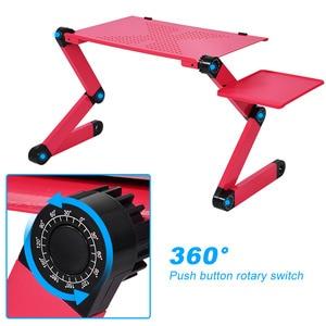 Image 2 - 360 degrés réglable bureau dordinateur portable bureaux dordinateur pliable support bureau Table plateau lit support de souris