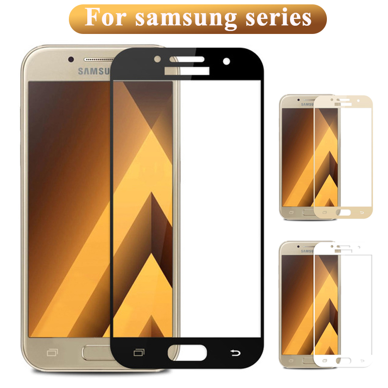 Tempered Glass On The For Samsung Galaxy J3 J5 J7 A3 A5 A7 2017 2016 J2 Prime J A 2 3 5 7 Screen Protector Protective Cover Film