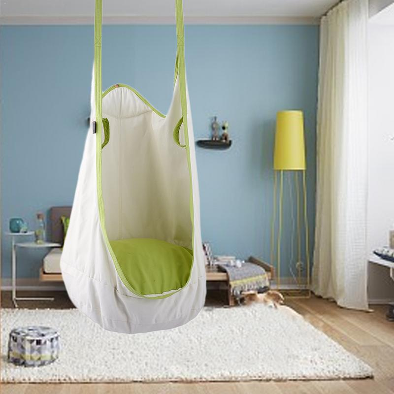 Kids Pod Swing Chair Nook Hanging Seat Hammock Nest For Indoor And Outdoor Use Great Garden Furniture Kids Hanging Chair Camping