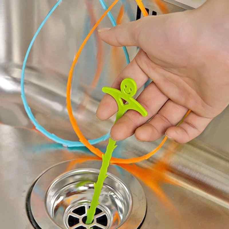 En forma de U cocina tubo gancho para dragar Anti-gancho de bloqueo fregadero drenaje limpiador desagüe de cuarto de baño inodoro removedor de cabello