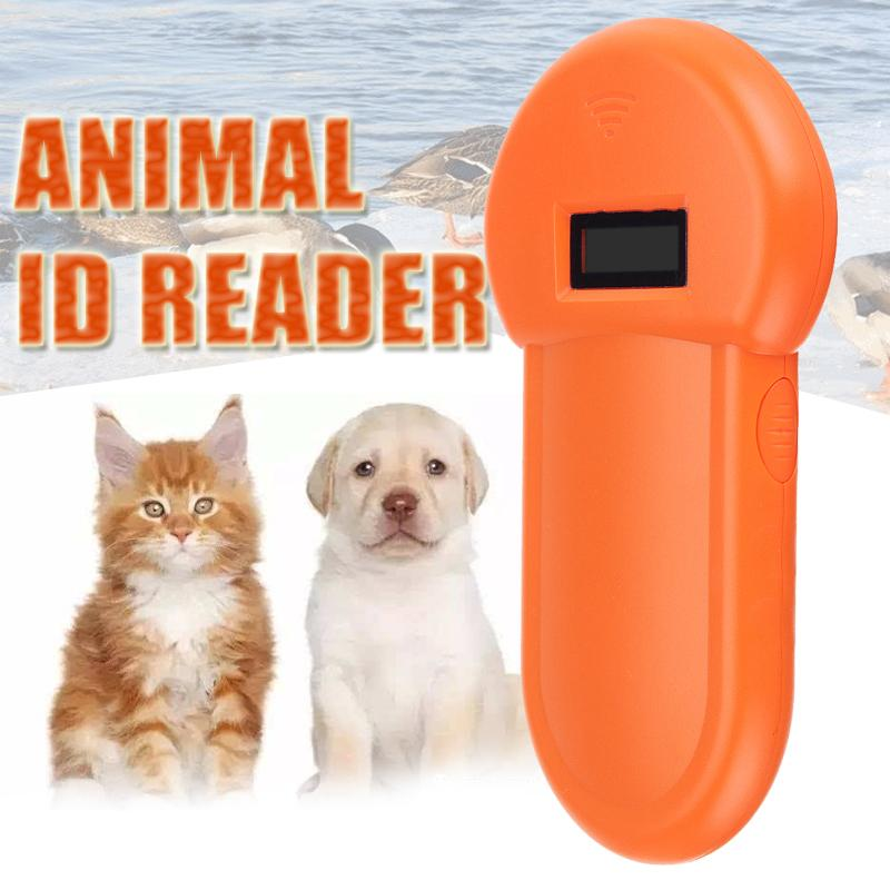 ISO11784/11785 134.2KHz FDX B LCD Display Animal Microchip Scanner Tag Barcode Scanner Portable Pet RFID Chip Reader For Dog Cat