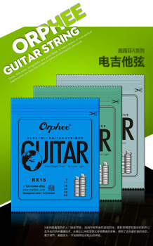 Free shipping! SunRhyme Orphee Guitar accessories RX series electric guitar string sets 1-6 electric guitar strings free shipping 2014 new gib lp custom black color electric guitar gold accessories ebony fingerboard oem brand guitar in china