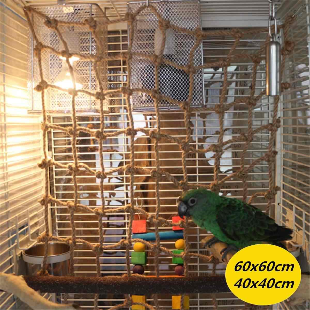 60/40 см для лазанья, для попугаев Чистая Птица веревочная лестница конопли Веревочный Гамак подвесная клетка толстые игрушки-Жвачки для домашних животных шлифовальная ветка для попугаев играть восхождение