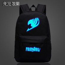 купить 2019 Creative Fairy Tail Backpack Anime Luminous Printing School Bag For Teenagers Cartoon Travel Bags дешево