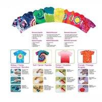 12 цветов Ткань Tye Постоянный/краситель ремесло один шаг галстук комплект искусство Дизайн Модный Набор
