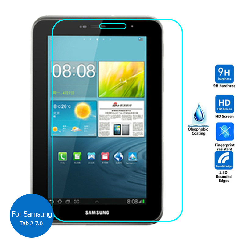 For Samsung Galaxy Tab 2 7.0 Tempered Glass GT-P3100 Screen Protector 2.5 9h Safety Protective Film On Tab2 7 P3100 P3110 P 3110