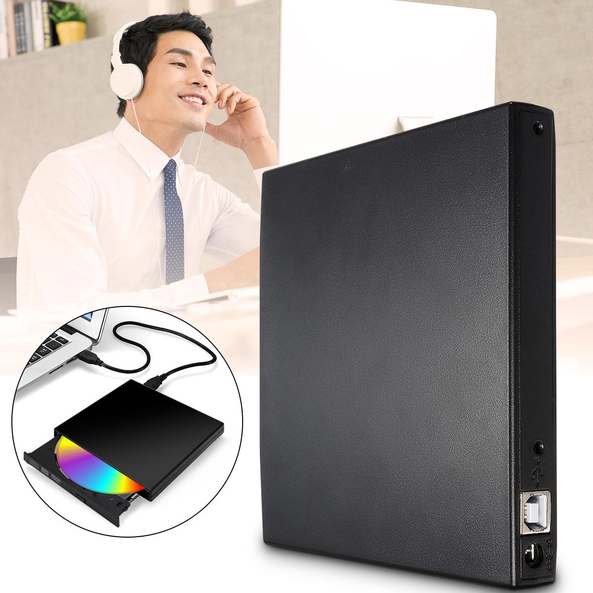 Nova chegada usb 2.0 dvd cd-rom ide capa dvd rw queimador rom unidade caso externo gabinete caddy portátil notebook ide interface