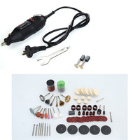 130W Mini Drill Electric Rotary Tool Engrave Grinder Variable Speed With 78/100/147pcs Accessories DIY Kits