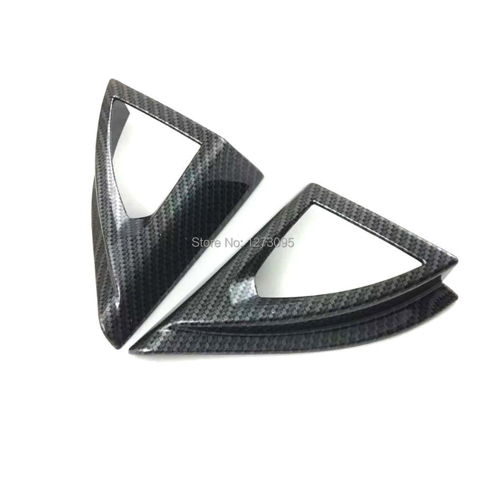 For Peugeot 5008 GT 2017 2018 ABS Front Door Side Corner Triangle Trim Cover Protector Sticker Car Styling Accessories