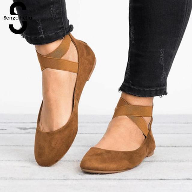Senza Fretta 2019 nouveau été femmes sandales mode femmes bout fermé  chaussures à talons plats femme
