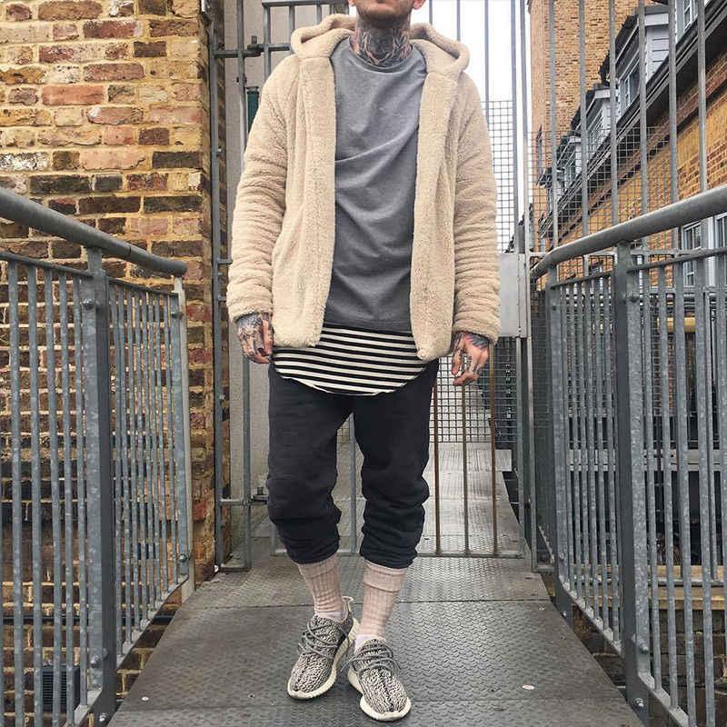 2018 mannen Winter Warme Fleece Hooded Jassen Hoodies Jumper Hip Hop Cool Stijlvolle Uitloper Plus Size M-3XL
