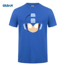 GILDAN Mega Man Retro Video Game Face T Shirt O Neck T-shirt Short Sleeve Round Neck  Shirt Promotion Men Summer Short Sleeves цены