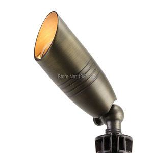Image 3 - 12 V แรงดันไฟฟ้าต่ำโคมไฟภูมิทัศน์กลางแจ้งทองเหลือง Spotlight Bronze LED Garden ไฟน้ำท่วม MR16 หลอดไฟ 3 W 5 W
