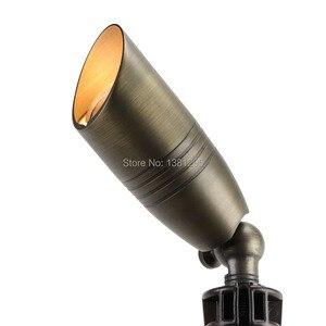 Image 3 - 12V Low Voltage Outdoor Landscape Lighting Cast Brass Spotlight Bronze LED Garden Flood Light Spot Light MR16 Bulbs 3W 5W