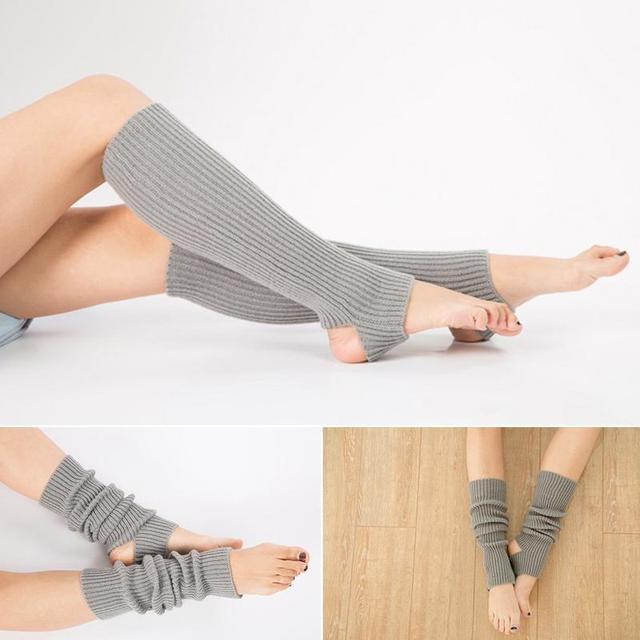 1 Pair Woman Professional Yoga Socks Acrylic Latin Dance Leg Sets Knit Sport Protective Wool Yoga Leg Cover
