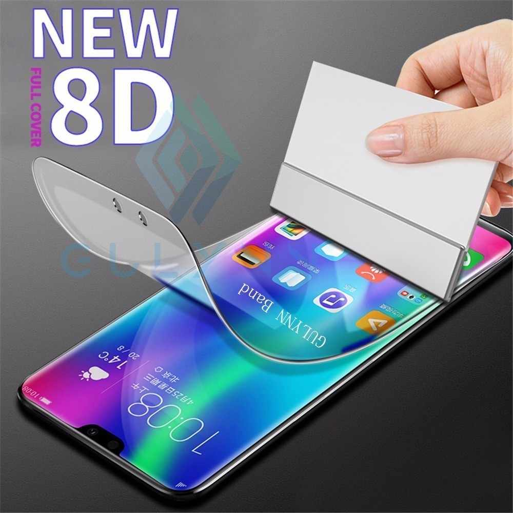 8D Curved Full Cover Screen Protector For Huawei honor 20 20i 8X 8A Pro 8C 7X 10 9 Nova 4 3i P Smart 2019 Soft Film  (Not Glass)
