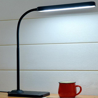 48PCS LED Stand Flexible Desk Lamp Touch Switch 3 Light Colors Stepless Dimming Reading Light Office USB Led Table Lamps