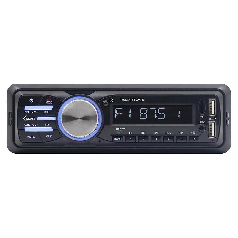 DC12V Car Mp3 Player FM Receiver 2 USB Disk Player AUX Input Player Wireless Handsfree Music Audio USB Remote Control