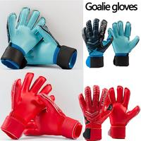 Football Goalkeeper Non slip Gloves Outdoor Sports Patchwork Thick Blue, Red Latex Gloves