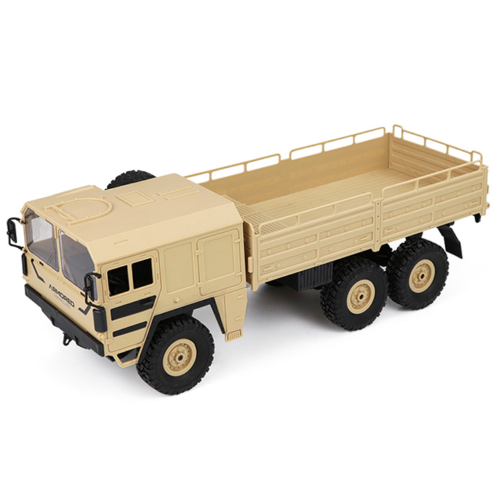 JJRC Q64 1 / 16 2.4GHz Wireless Remote Control Toy 6WD RC Military Truck Rock Crawler RTR Toy 500g Load Capacity 6 WD RC Truck