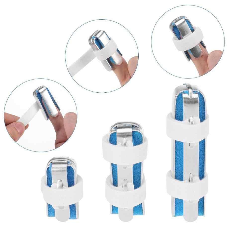 3 размера Скоба для пальцев Поддержка Корректор осанки алюминий палец рука шина восстановления травм боль изгиб деформации коррекция