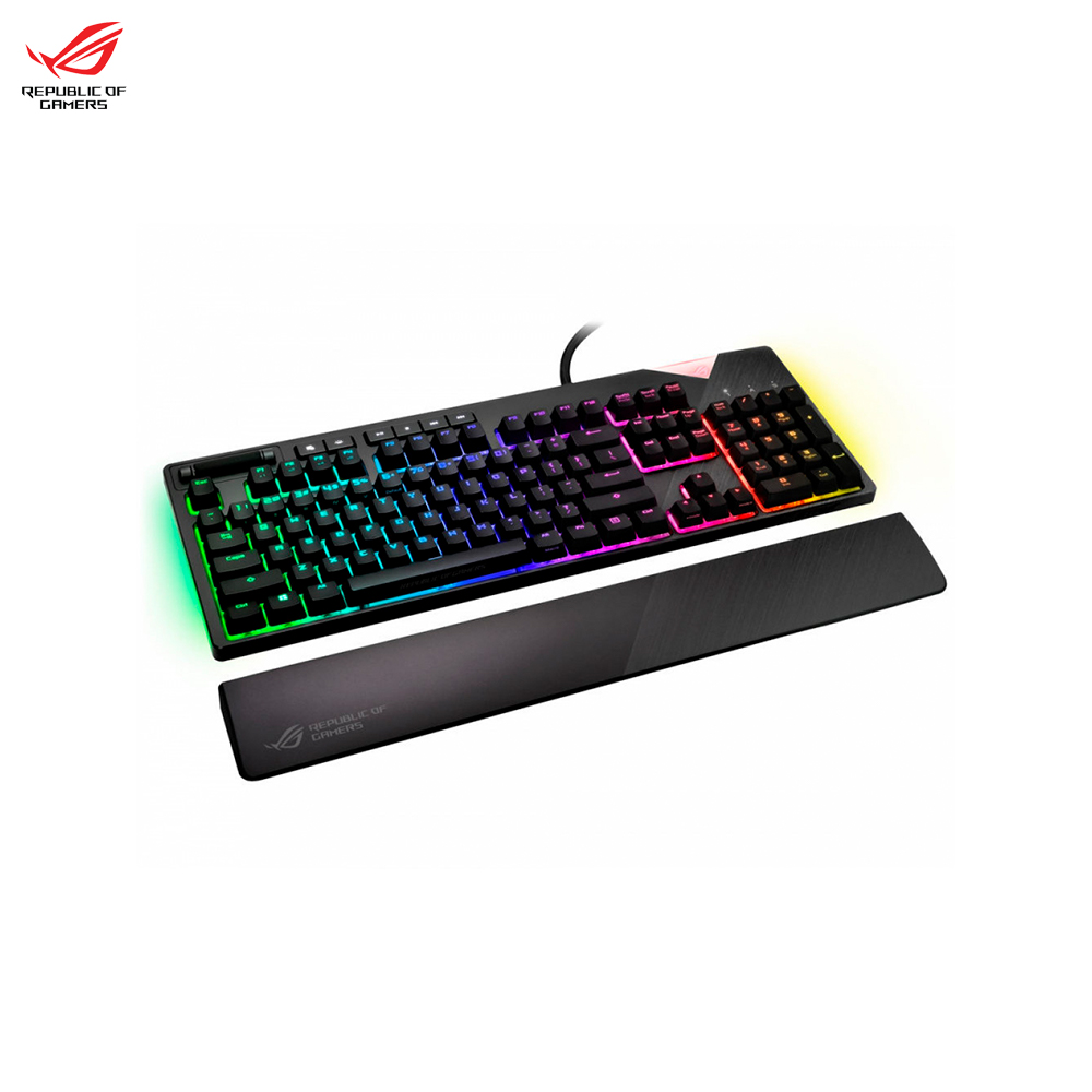 Keyboards ASUS ROG STRIX FLARE 90MP00M0-B0RA00RED gaming wired backlit Keyboard Computer Peripherals Mice