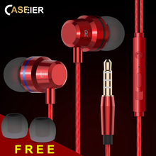 CASEIER X30 In-Ear Headset For iPhone Noise Canceling HIFI Earphones Samsung Huawei Xiaomi High Bass Clear Sound Earpiece