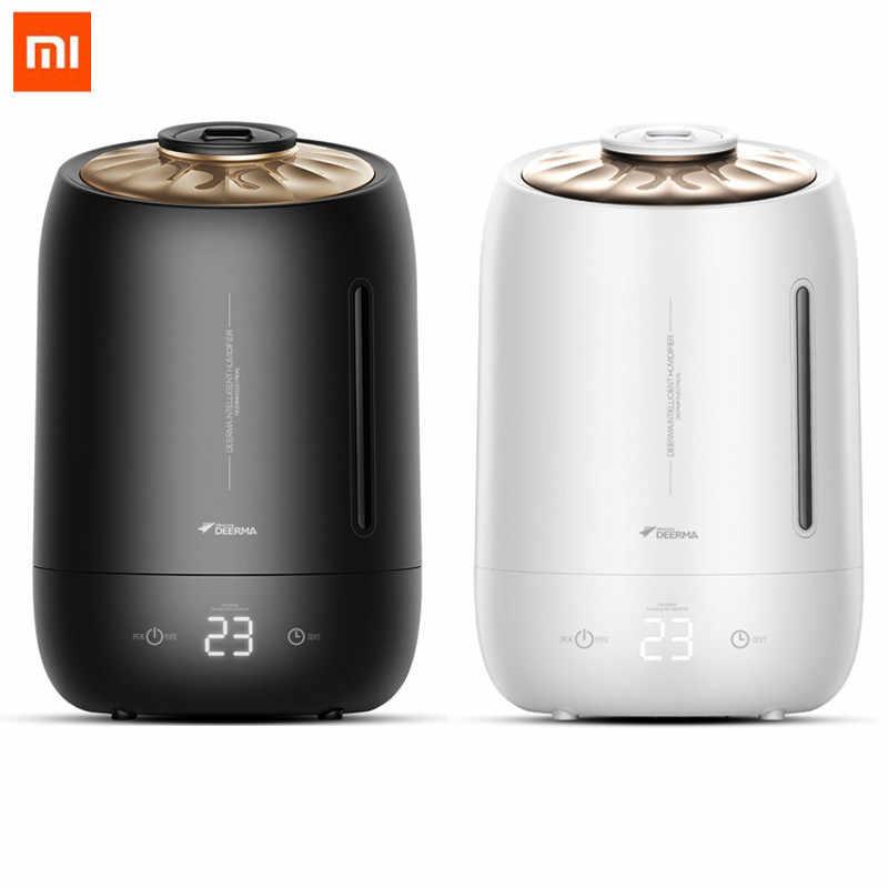 شاومي Mijia Deerma 5l الهواء المنزل مرطب بالموجات فوق الصوتية اللمس الإصدار تنقية الهواء لغرفة مكيفة الهواء مكتب المنزلية D5