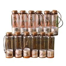 12pcs/pack Wishing Bottle Creative Gift Cute Mini Glass Bottles Vials Containers Small Vintage Ornaments Craft Decor