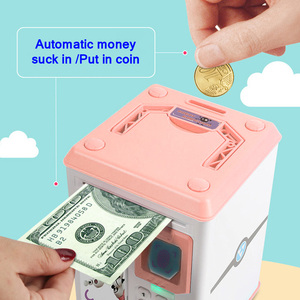 Image 4 - 貯金箱貯金箱現金コイン電子指紋 ATM パスワードコインマネーセービング箱ジャー収納ボックス子供のための誕生日ギフト