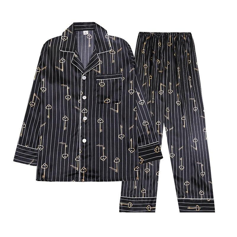 pyjamas women Silk-like   Pajamas   Ladies Long Sleeve Trousers Home Service Two Piece   Set     pajama     sets   sleepwear 2019 Hot Sale
