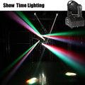 10 Вт RGBW Мини светодиодный Луч движущаяся головка 10 Вт точечная стирка RGBW 4 в 1 сценический эффект DMX 512 управление KTV DJ Party lite домашнее развлече...