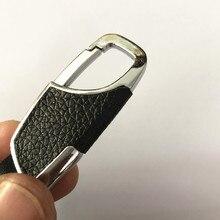 Simple fashion leather metal car keychain for bmw e60 suzuki swift dodge caliber