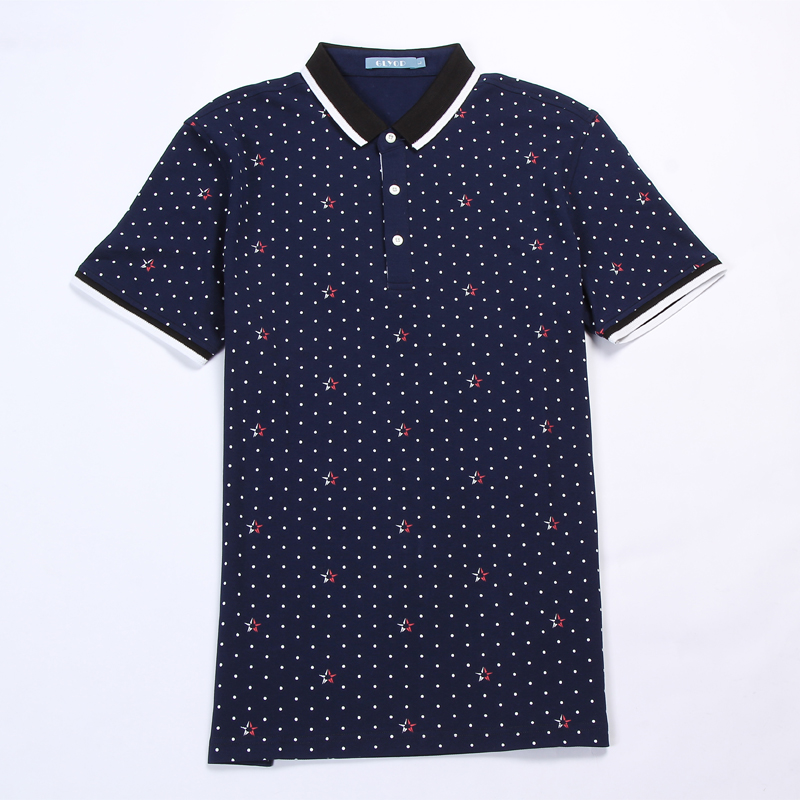 Fashion Brand   Polo   Shirt Men Summer Short Sleeve   Polos   Male Plus Size XXXL Cotton Dots Print Camisa   Polos   Casual Shirts Top Tees