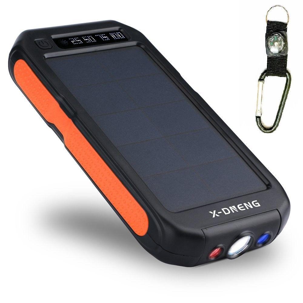 50000mAh Sport Solar Charger Power Bank Li-polymer Battery Waterproof Dustproof Portable External Battery Powerbank