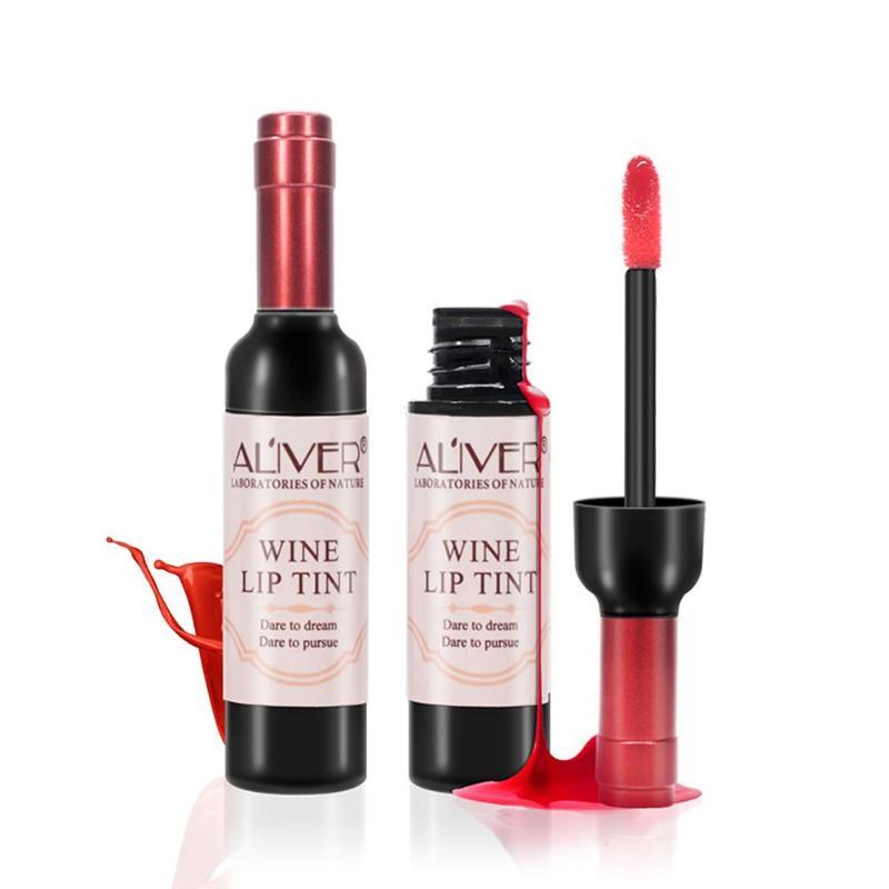 Red Wine Bottle Lips Makeup Moisturizer Long Lasting Lip Gloss Lipstick Waterproof Cosmetic Beauty Makeup Matte Maquillaje Tools 6