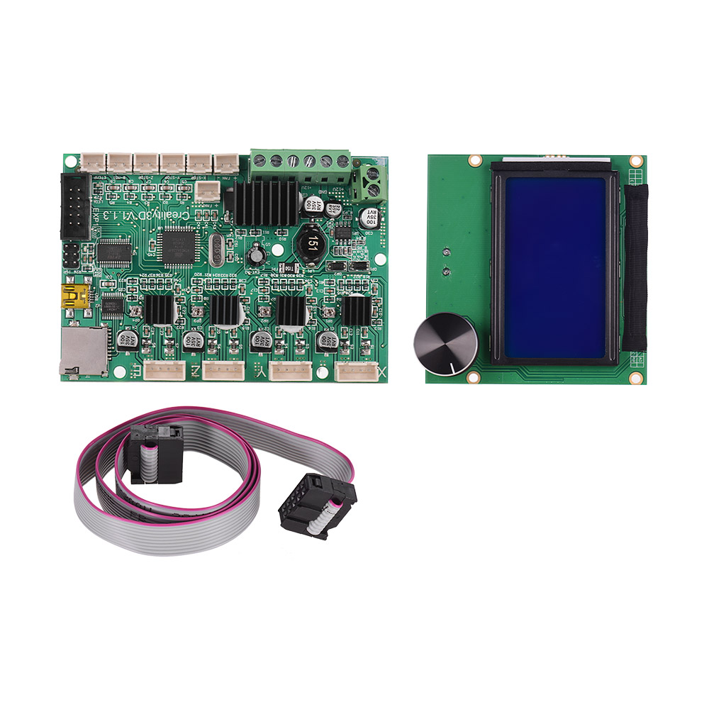 Creality 3D Printer Mainboard Replacement Control Board Motherboard LCD Display with Cable for Ender 3 Accessory