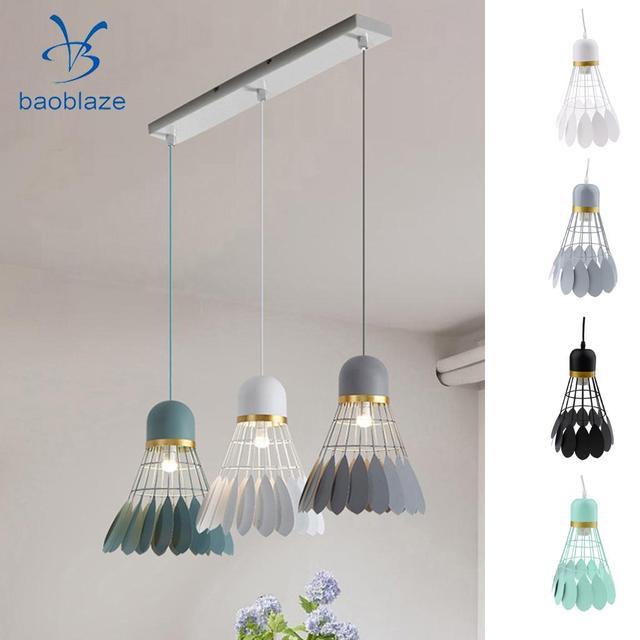 Chandelier Modern Novelty Badminton Hanging Iron Lamp Shade Children S Room Ceiling Interior Lighting