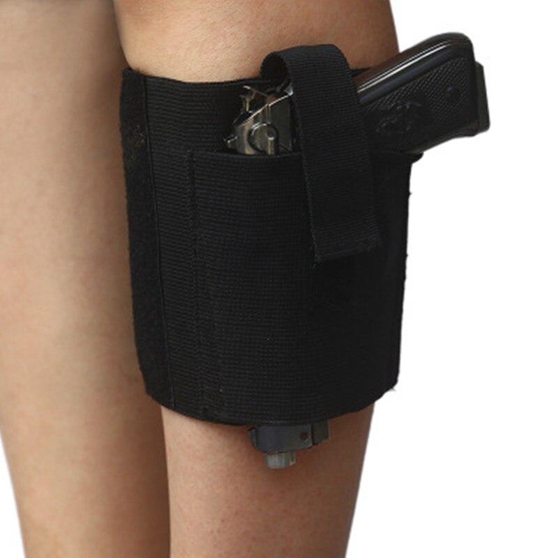 Vereinigt Universal Ankle Holster Mit Retention Haken & Schleife Strap Verdeckte Pistole Tragen Fall Elastische Sichere Strap Revolvor Verschleierung Sicherheit & Schutz