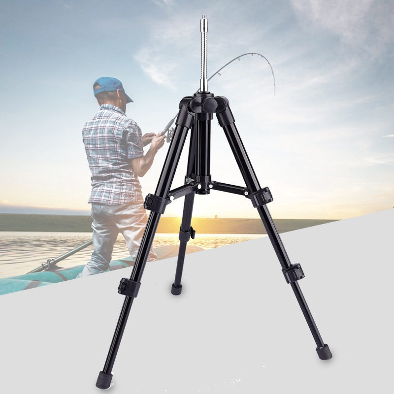 Fish Light Tripod Bracket Aluminum Alloy Telescopic Fishing Tripod Holder Night Fishing Light Bracket Fishing Rod Support