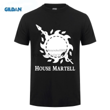 GILDAN Game of Thrones T Shirt House Martell T-Shirt Men men Cotton Tshirt Clothing Summer Top GOT Tee Plus Size