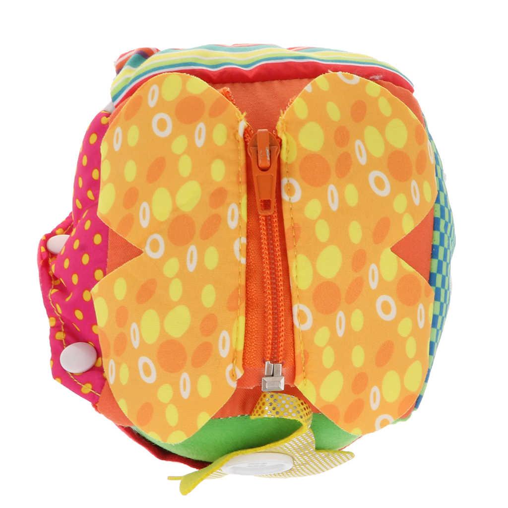 Яркие цветные тканевые шнурки на Молнии Кнопка обучения Куб Блок игрушка для детей Детская развивающая игрушка для раннего развития подарок