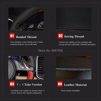 Black Artificial Leather Car Steering Wheel Cover for Kia Sportage 3 2011 2014 Kia Ceed Cee'd 2010 2012
